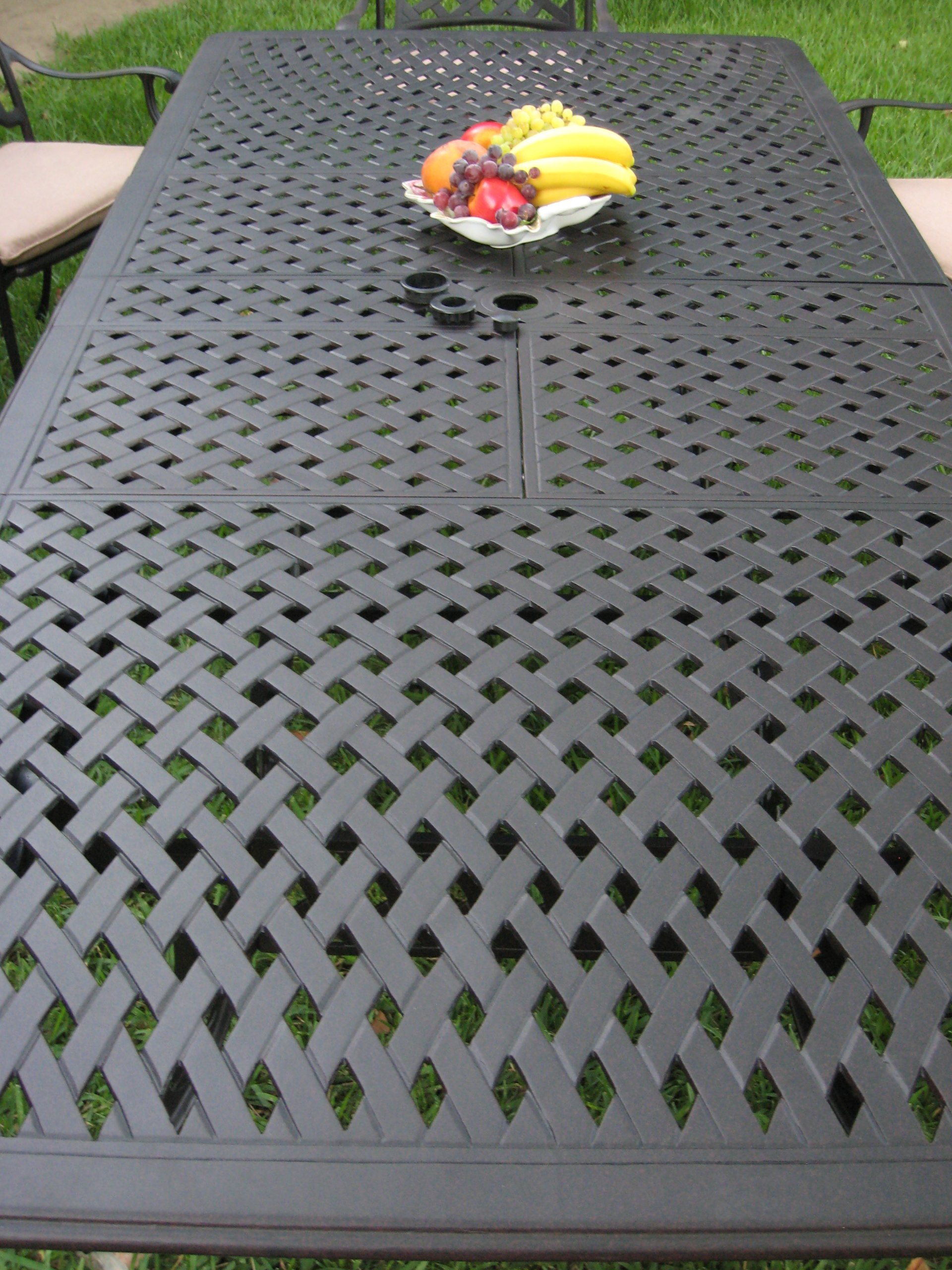Cast Aluminum Outdoor Patio Furniture 9 Piece Extension Dining Table Set KL09KLSS260112T - CBM patio Kawaii Collection Cast Aluminum Outdoor Patio Furniture 9 Piece Extension Dining Table Set KL09KLSS260112T Kawaii Collections Made of genuine cast aluminum,Comfortable seating Durable and quality. Assembly required for Table legs only. Color: Desert Brown Slate Finish. Includes: 8 Armchairs and with free Cushions 1 table. - patio-furniture, dining-sets-patio-funiture, patio - 91eZ6L4bcbL -