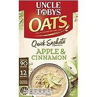 UNCLE TOBYS Oats Quick SACHETS Apple & Cinnamon, 12 x 35g