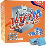 [32 Pack] Taffy's Washing Machine Cleaner Effervescent Tablets,Solid Washer Deep Cleaning Tablet, Triple Decontamination Remo