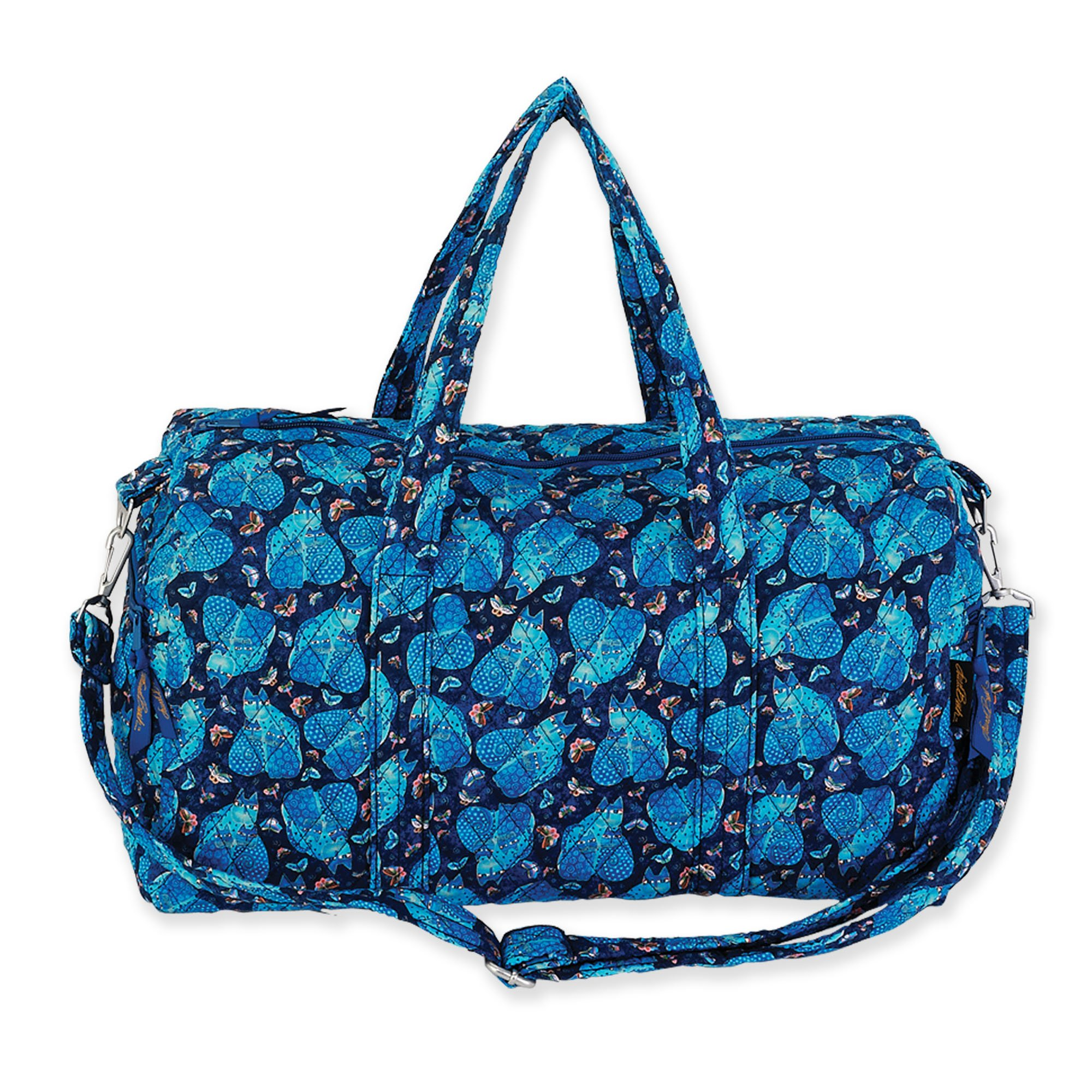 Laurel Burch Indigo Cats Weekender Travel Bag (Blue)