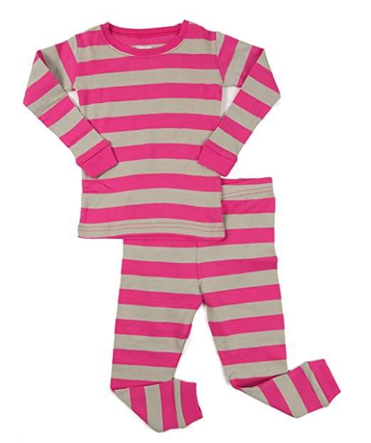 a3e5de39e3 Amazon.com  Leveret Striped Kids   Toddler Girls Pajamas 2 Piece Pjs ...