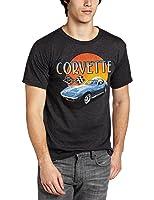 Chevy Corvette Sunset Mens Charcoal Lightweight T-Shirt