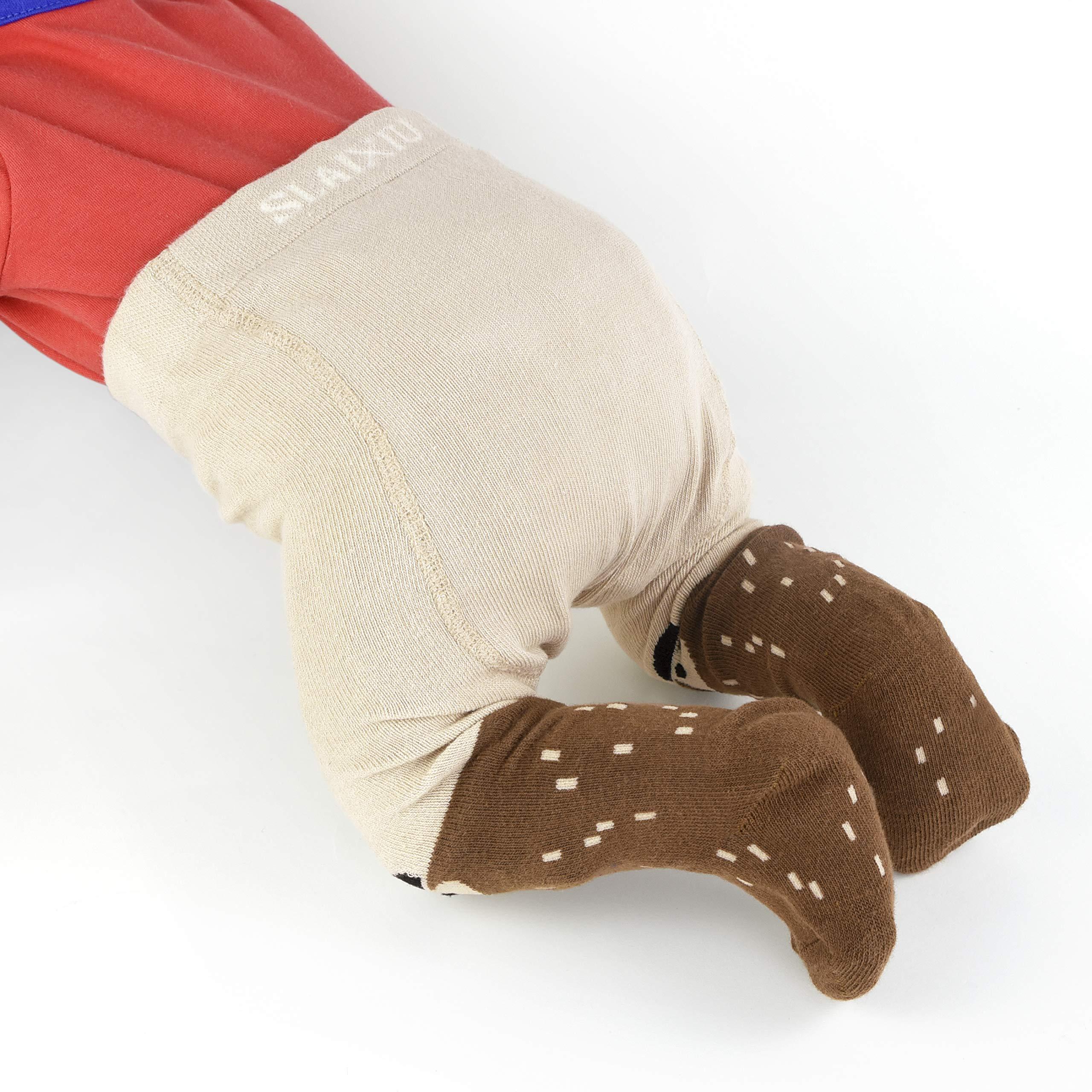 slaixiu Cotton Baby Girl Tights Cable Knit Seamless Toddler Leggings Pantyhose Pants Stockings 3-Pack(Tree&Fox&BeigePanda_0-6 M)