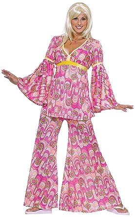 Amazon forum novelties womens flower power hippie 60s costume forum novelties womens flower power hippie 60s costume pink standard mightylinksfo