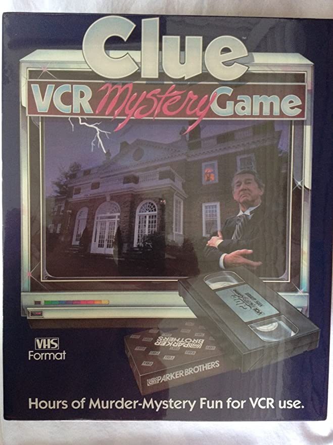 Amazon Clue Vcr Mystery Game By Parker Brothers Toys Games