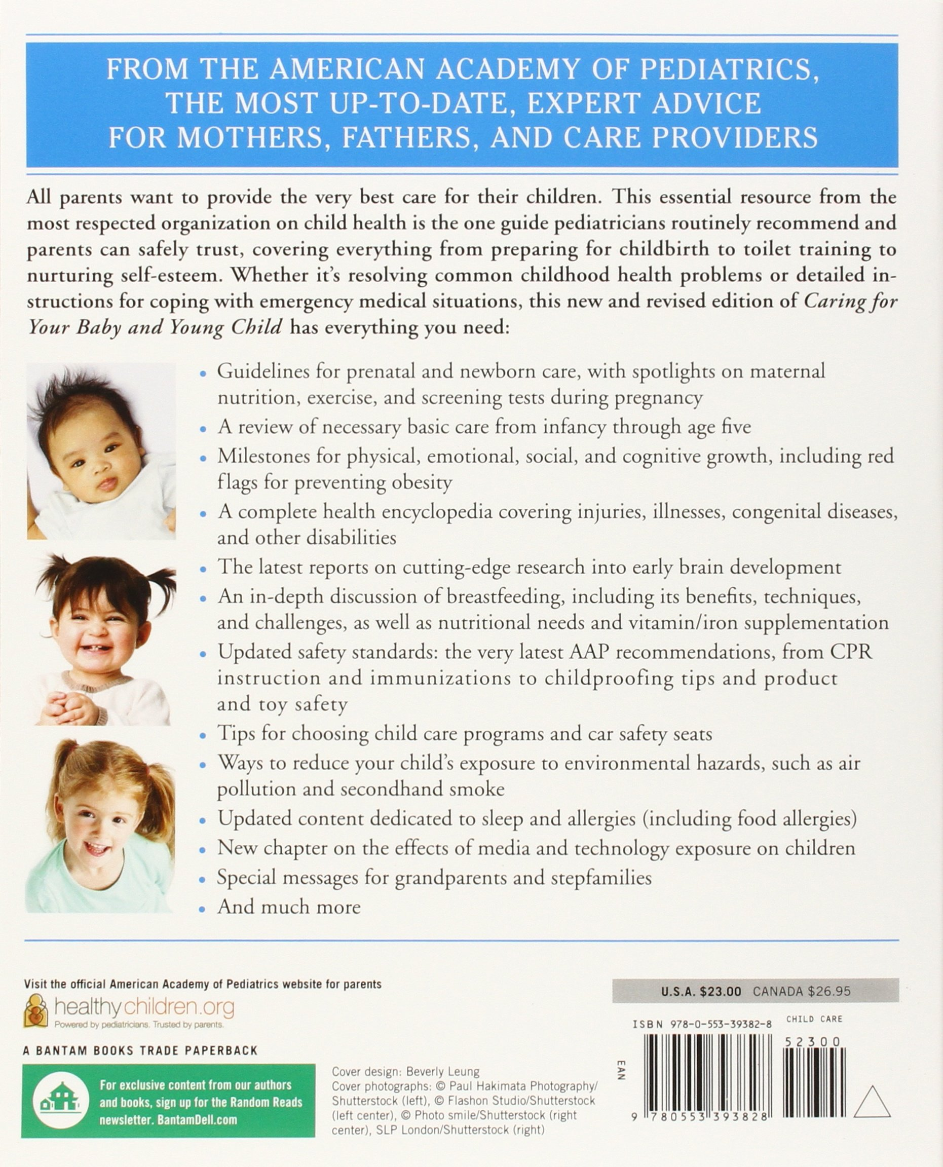 Caring for Your Baby and Young Child, 6th Edition: Birth to Age 5: American  Academy of Pediatrics: 9780553393828: Amazon.com: Books