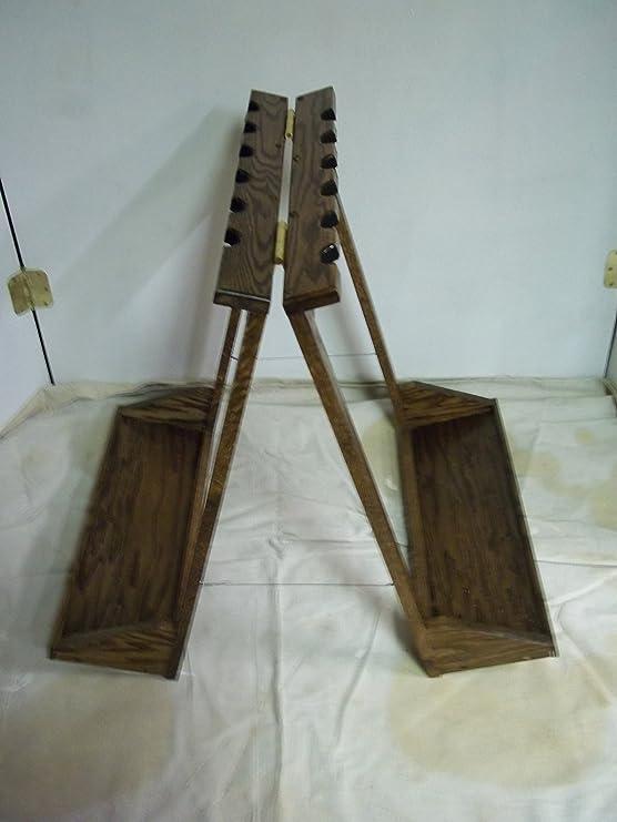 Amazon.com: Portátil de 12 pistola Rack – acabado de madera ...
