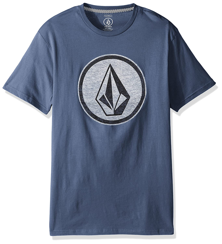 (ボルコム) VOLCOM < メンズ > 半袖 プリント Tシャツ (モダンフィット) [ A5011801/Classic Stone S/S Tee ] おしゃれ ロゴ B072C44GXH XX-Large|ディープブルー ディープブルー XX-Large