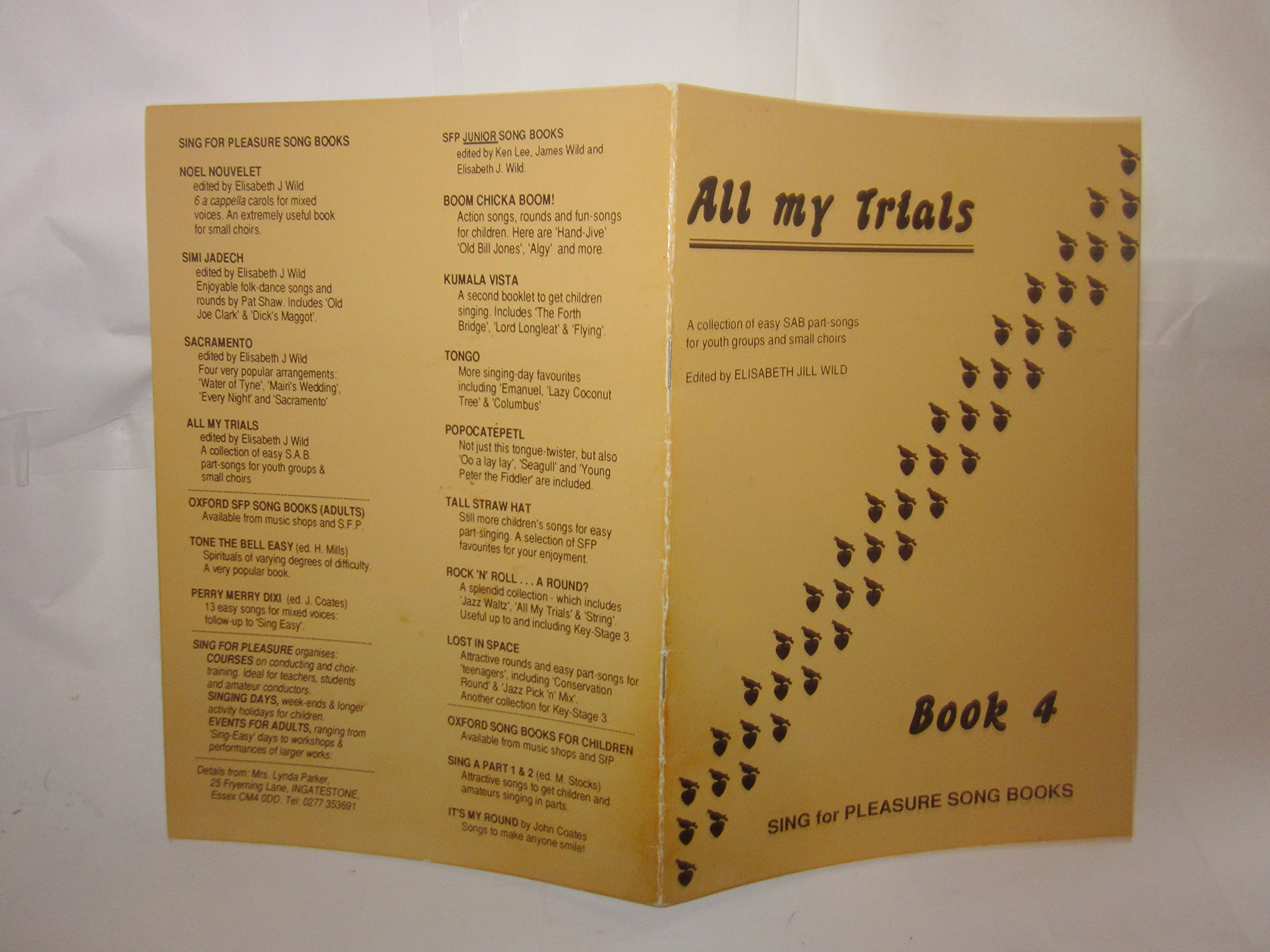 All My Trials: A collection of easy SAB part songs for youth groups