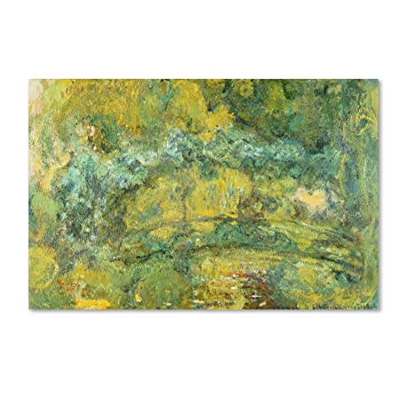 Passage on Waterlily Pond 1919 Artwork by Claude Monet, 30 by 47-Inch Canvas Wall Art