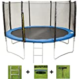 AirBounce 6ft/8ft/10ft/12ft/14ft/16ft/7 x10ft/ 8x12ft Round and Rectangular Brand New Trampolines - with Free Safety Enclosure, Ladder, Weather Cover and Spring Tension Tool