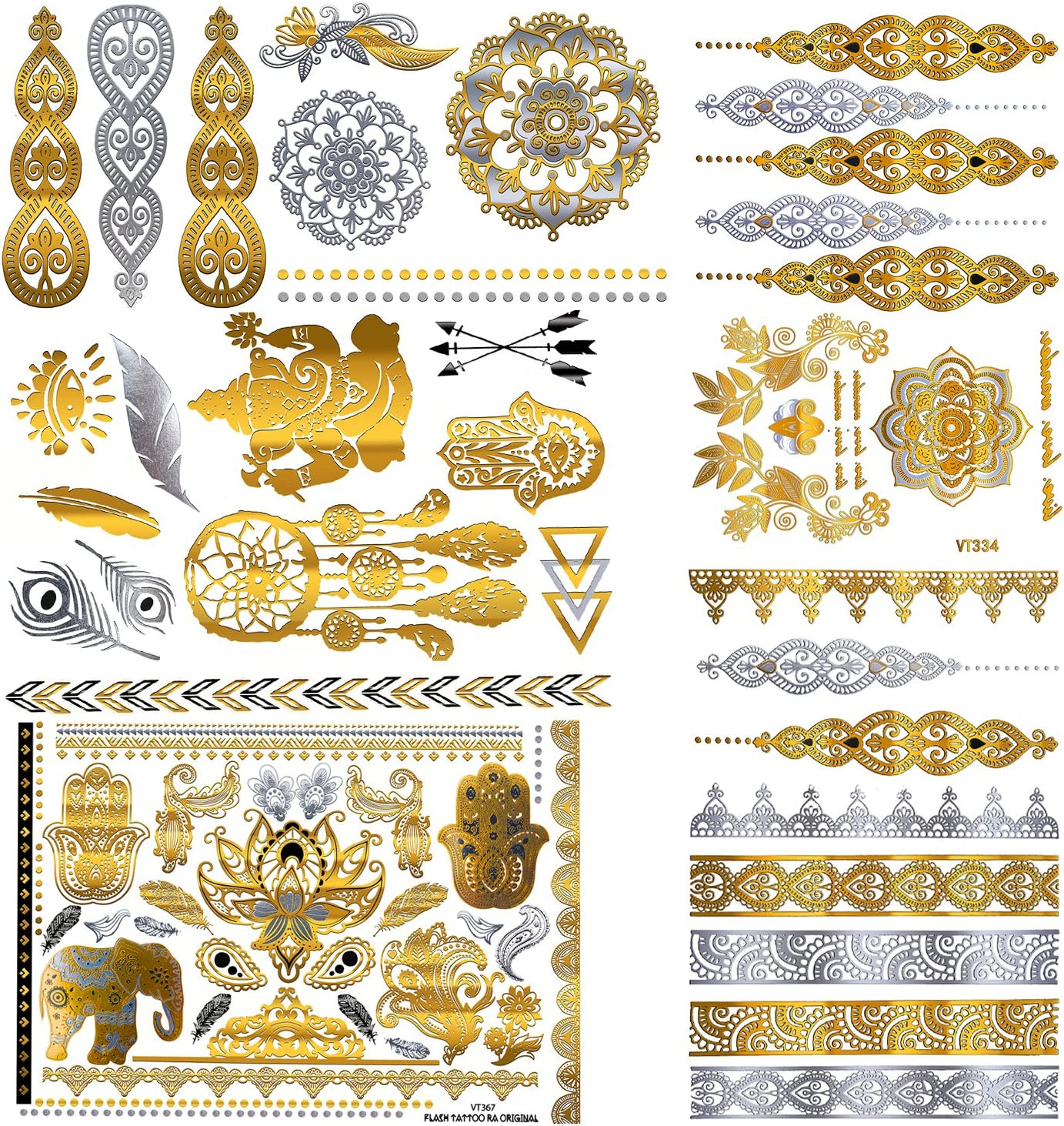 5 Sheets Fashion Body Art Stickers Removable Waterproof Temporary Tattoo Patten Type Wings Letters Cats Totem Cardiogram Hot Amazon Co Uk Diy Tools