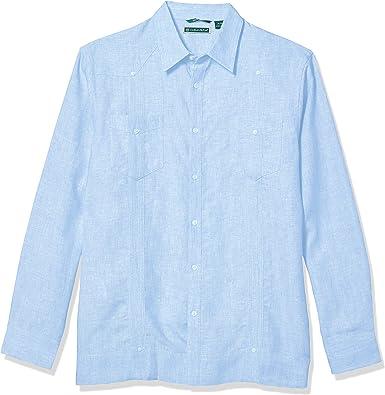 Cubavera - Camiseta de Manga Larga para Hombre (100% Lino ...