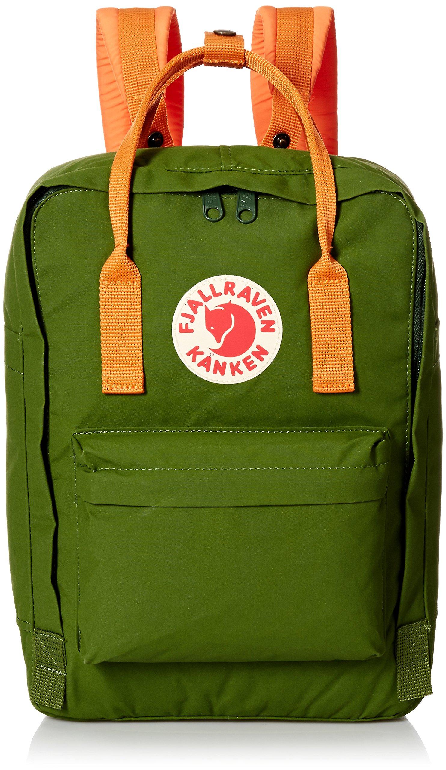 Fjallraven F27171 Unisex Kanken Laptop 13 inch Bag, Leaf Green/Burnt Orange - OS