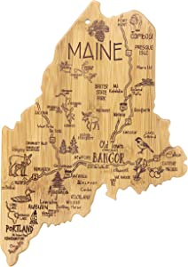 Totally Bamboo Maine State Destination Bamboo Serving and Cutting Board