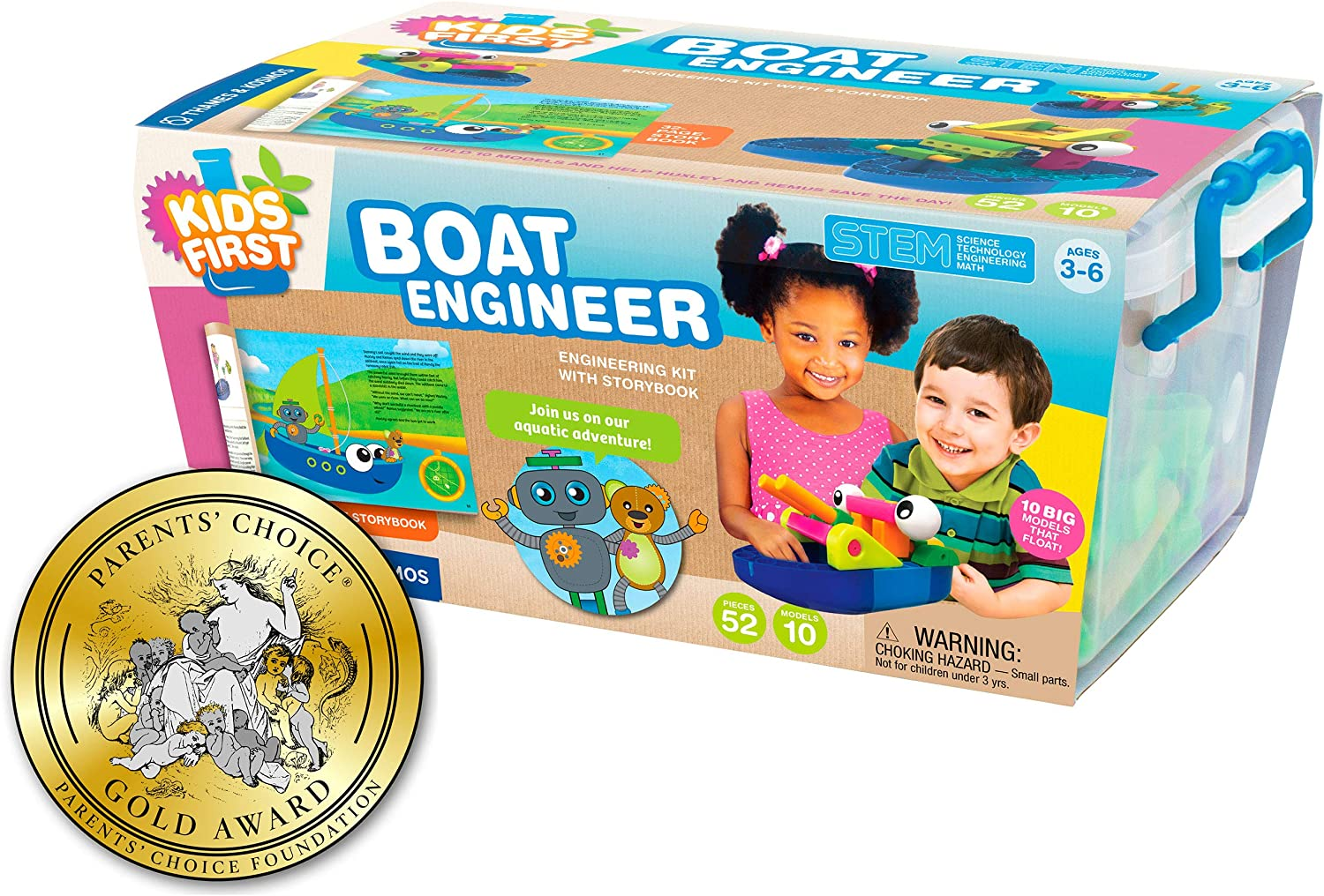 Kids First Boat Engineer Science Kit Toy For Girls And Boys GREAT Bathtub Gift