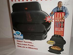 George Foreman GR8 Lean Mean Fat Reducing Grilling Machine w/Free Sponge, GR8BLK GR-8