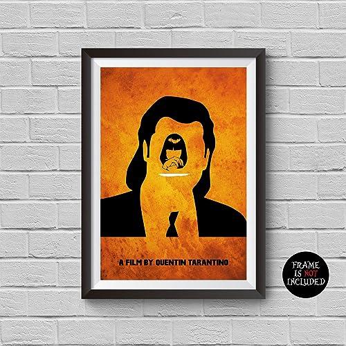 Pulp Fiction Minimalist Poster Quentin Tarantino Alternative Classic Movie Print Mia Wallace Pop Culture And Modern