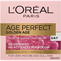 L'Oréal Paris Golden Age Rosy Day Moisturiser for Mature Skin, with Neo-Calcium, 50ml