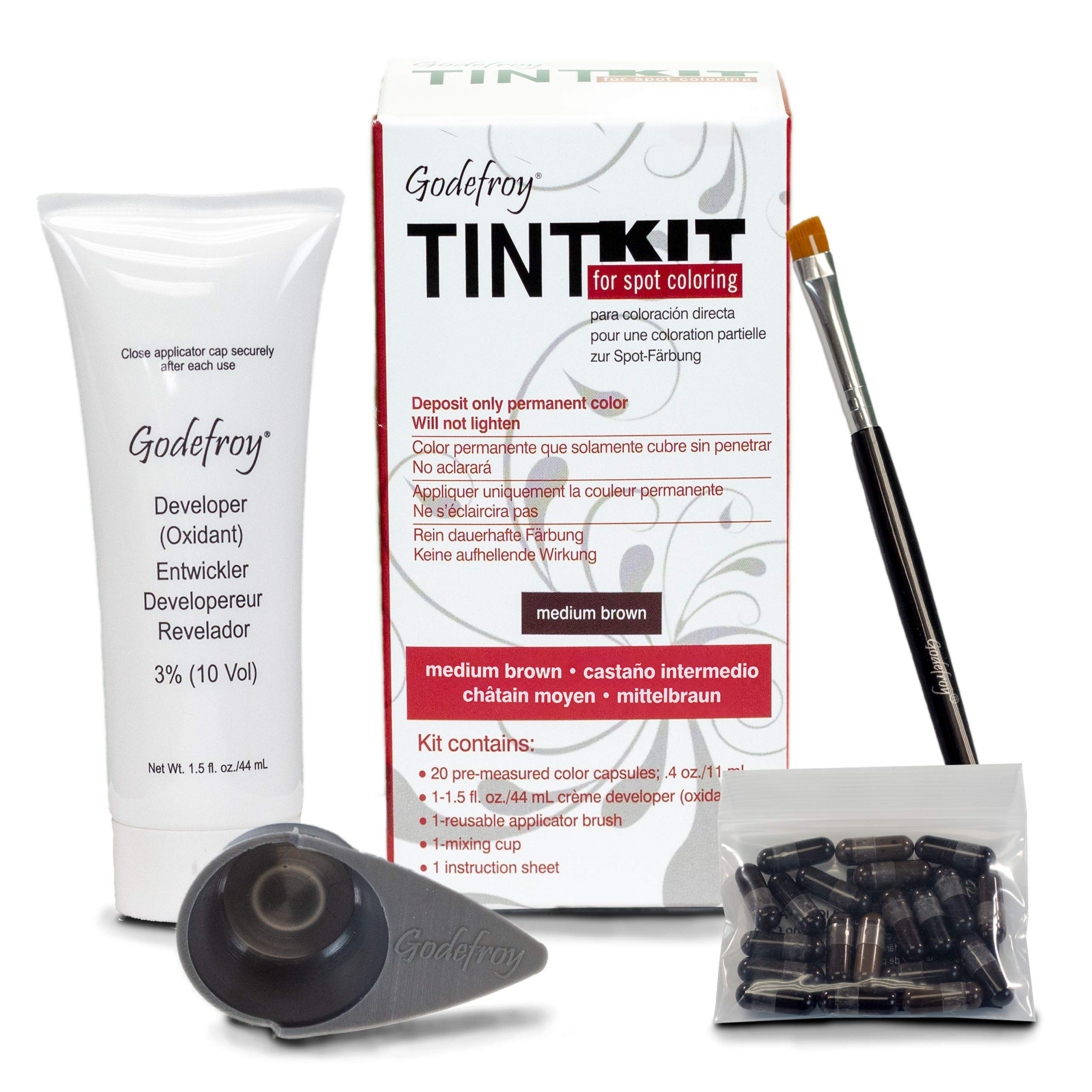 Godefroy Professional Tint Kit, Medium Brown, 20 Count by Godefroy