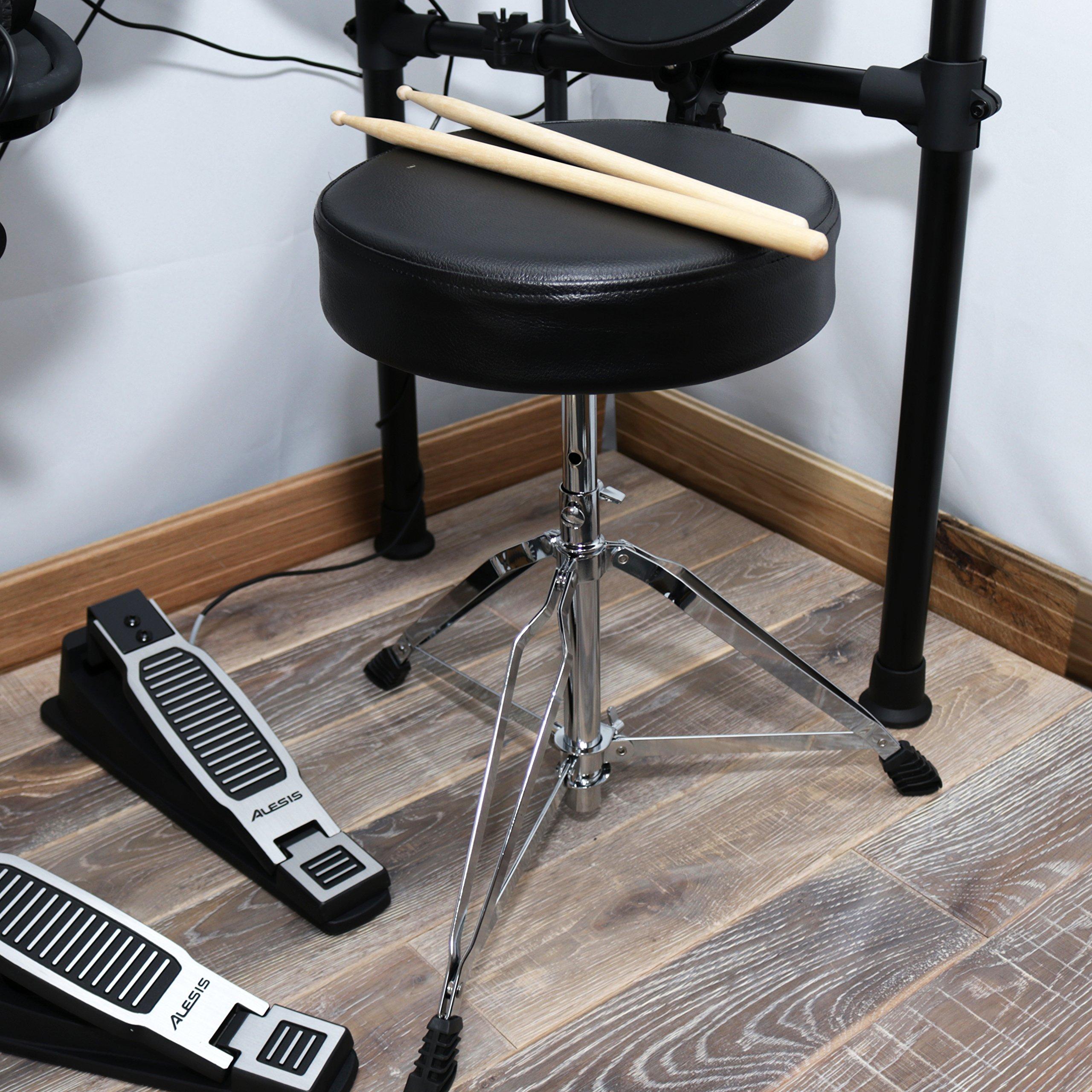 Alesis Seven-Piece Electronic Drum Burst Kit with DM6 Drum Module Includes Drum Throne, Drum Sticks, and FREE Headphones