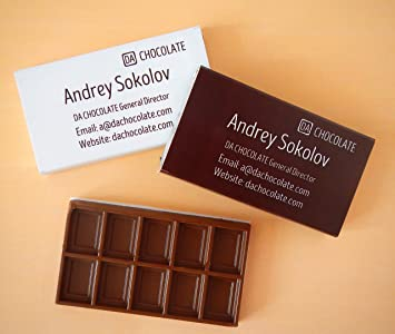 Chocolate business cards great idea for your business amazon chocolate business cards great idea for your business colourmoves