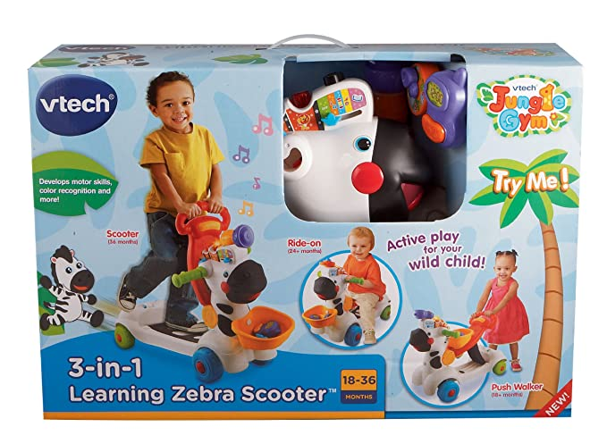 Amazon.com: Scooter con forma de zebra de VTech, para ...