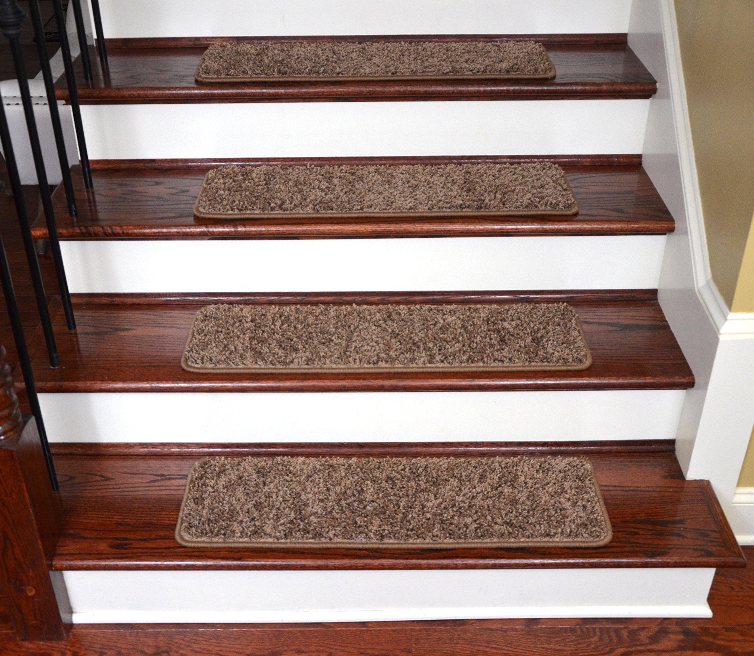 Dean Premium Stair Gripper Tape Free Non-Slip Pet Friendly DIY Carpet Stair Treads 30''x9'' (15) - Rivers Edge by Dean Flooring Company