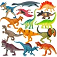 """Boley 14 Pk Dinosaur Toys for Kids with Educational Pamphlet - 9"""" Long Dinosaur Toy Figures for Boys & Girls Ages 3+"""