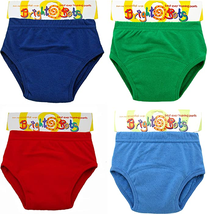 Bright Bots Boys Potty Training Washable Pull Up Trainer Pants 4pk Medium PUL