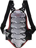Black Crevice Rückenprotektor für Kinder, Jugendliche und Erwachsene, schwarz-rot-silber