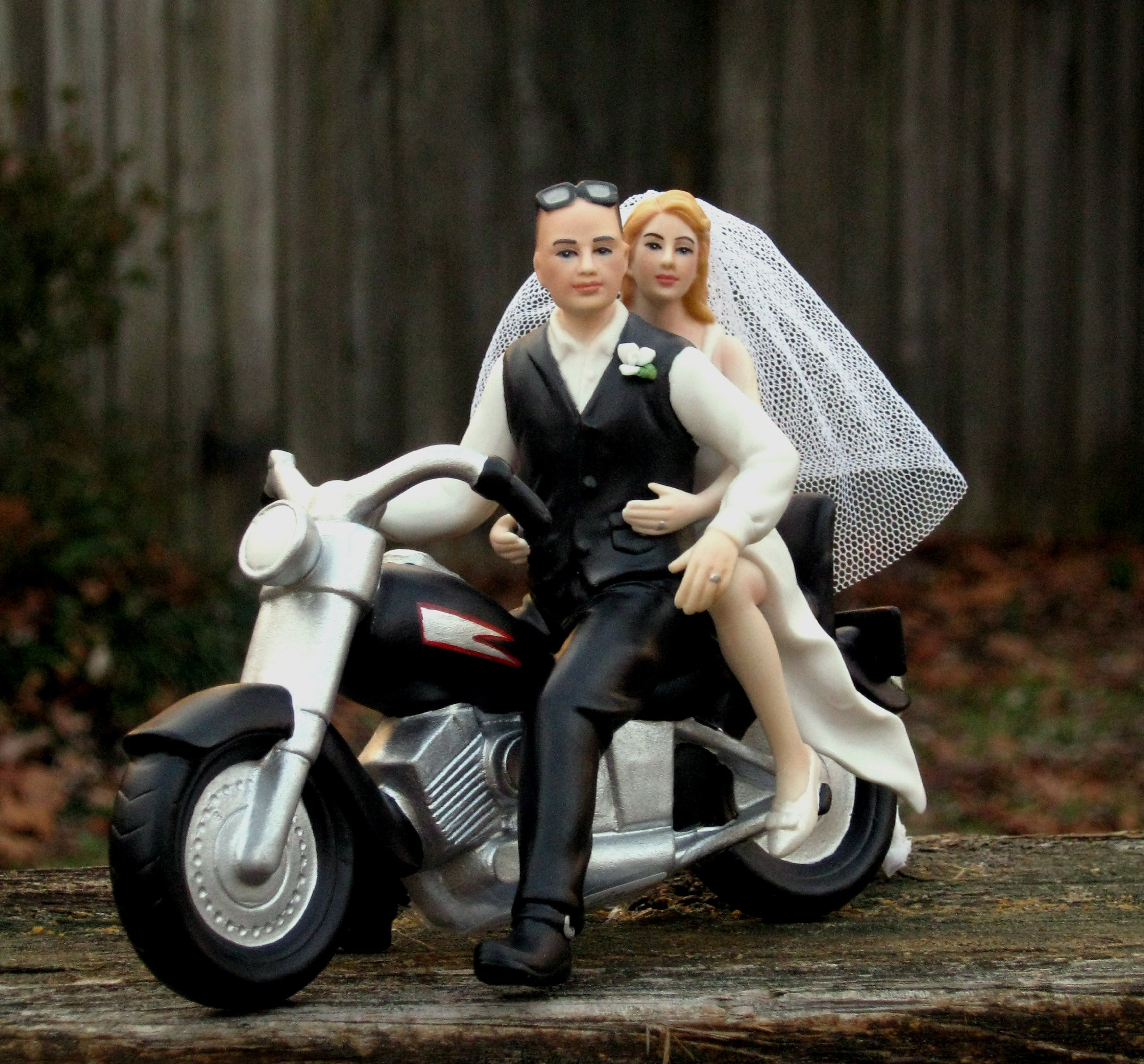 Motorcycle Cake Topper BALD Groom -- By Magical Day by Magical Day (Image #2)