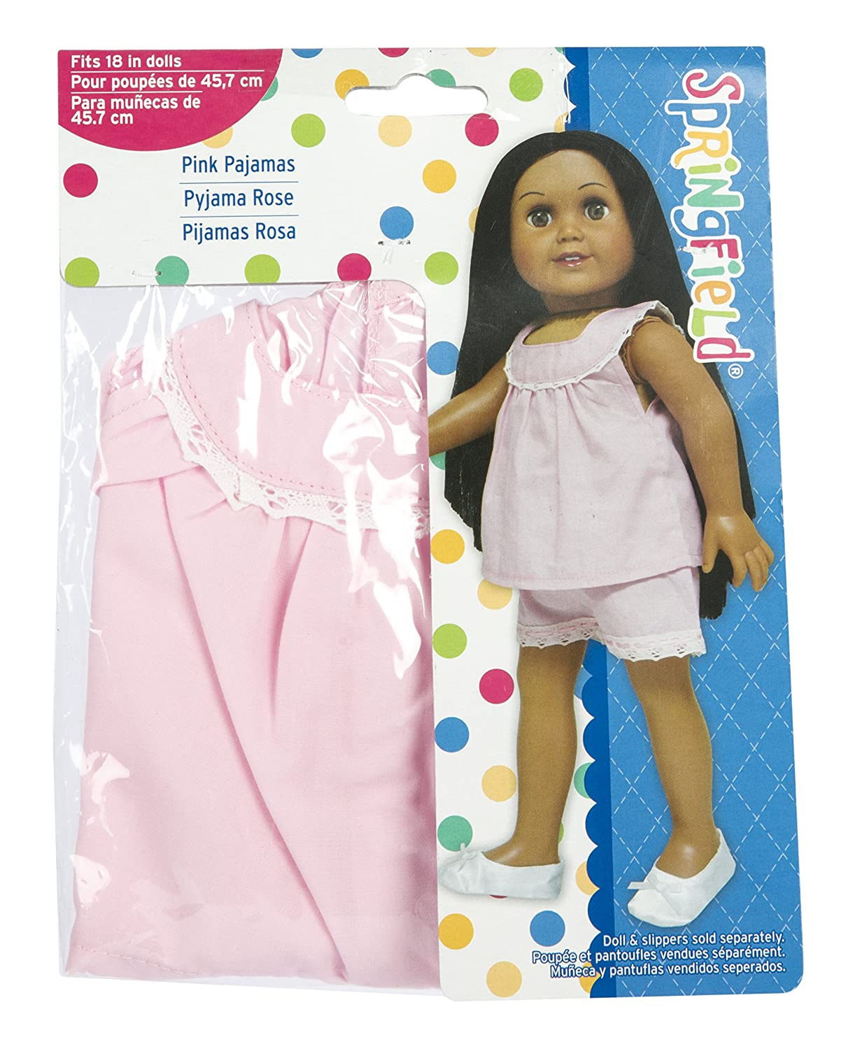 Amazon.com: Springfield Collection by Fibre-Craft – Pink Pajamas with White Lace Trim – Fits All 18-Inch Dolls – Mix and Match! – For Ages 4 and Up: Arts, ...