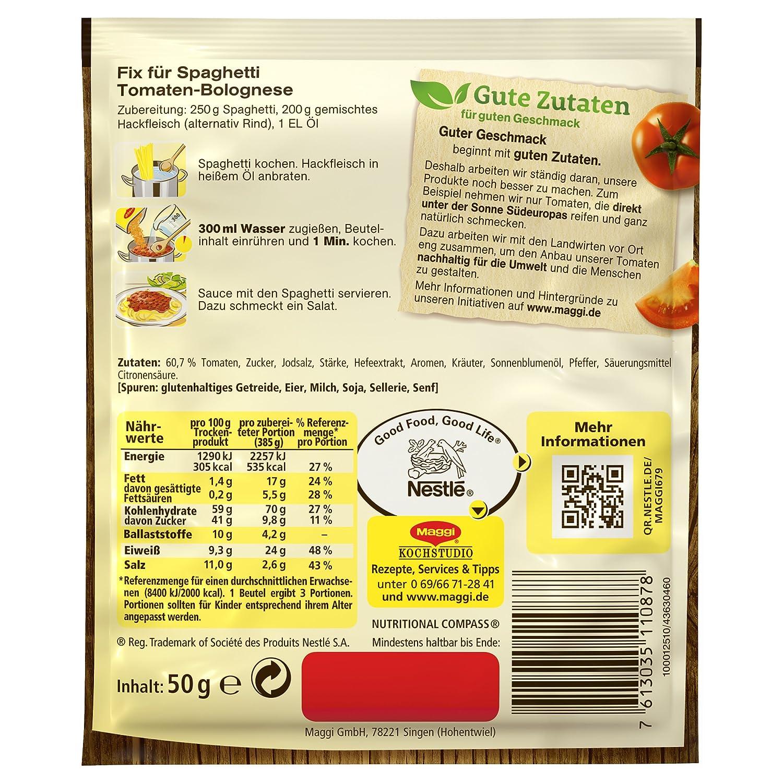 Amazon.com : MAGGI Fix & Fresh Tomato Bolognese (German Import ...