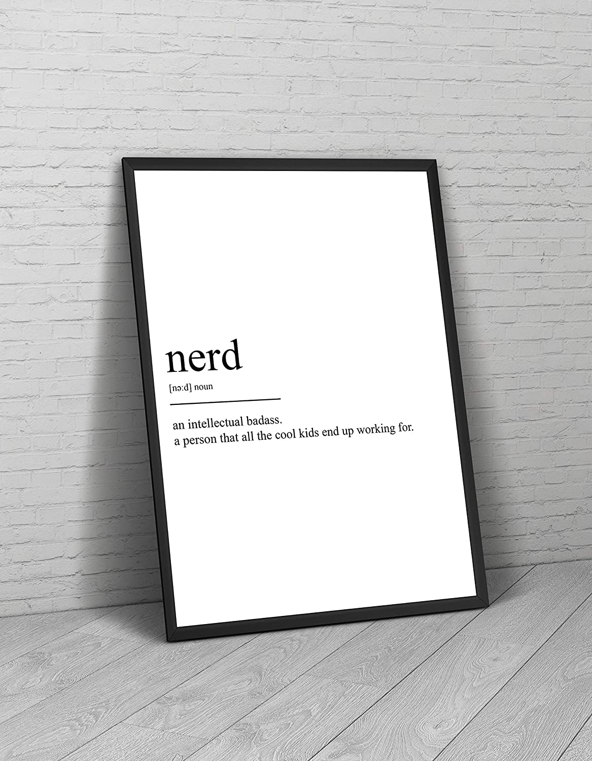 Amazon.com: Nerd Definition Print Geek Poster Student Gift Novelty ...