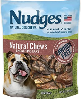 product image for Nudges Real Pork Chews Smoked Pig Ears, 7 Ounce