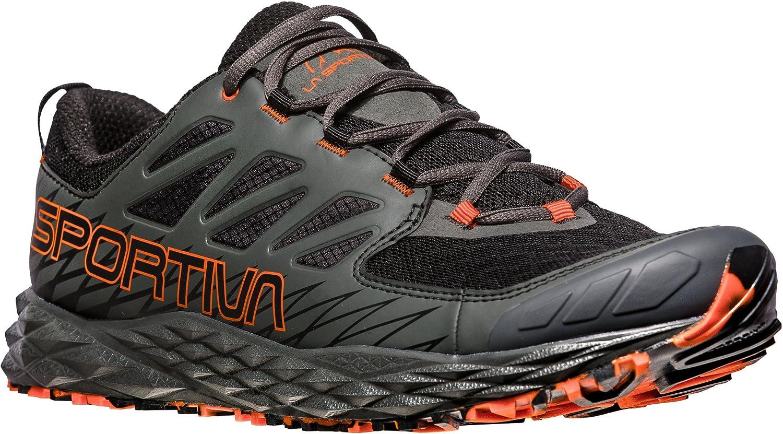 La Sportiva Lycan, Zapatillas de Trail Running para Hombre 45.5 EU|Multicolor (Black/Tangerine 000)
