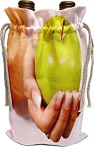 3dRose Yves Creations Berries and Fruit - Green Apple - Wine Bag (wbg_29107_1)