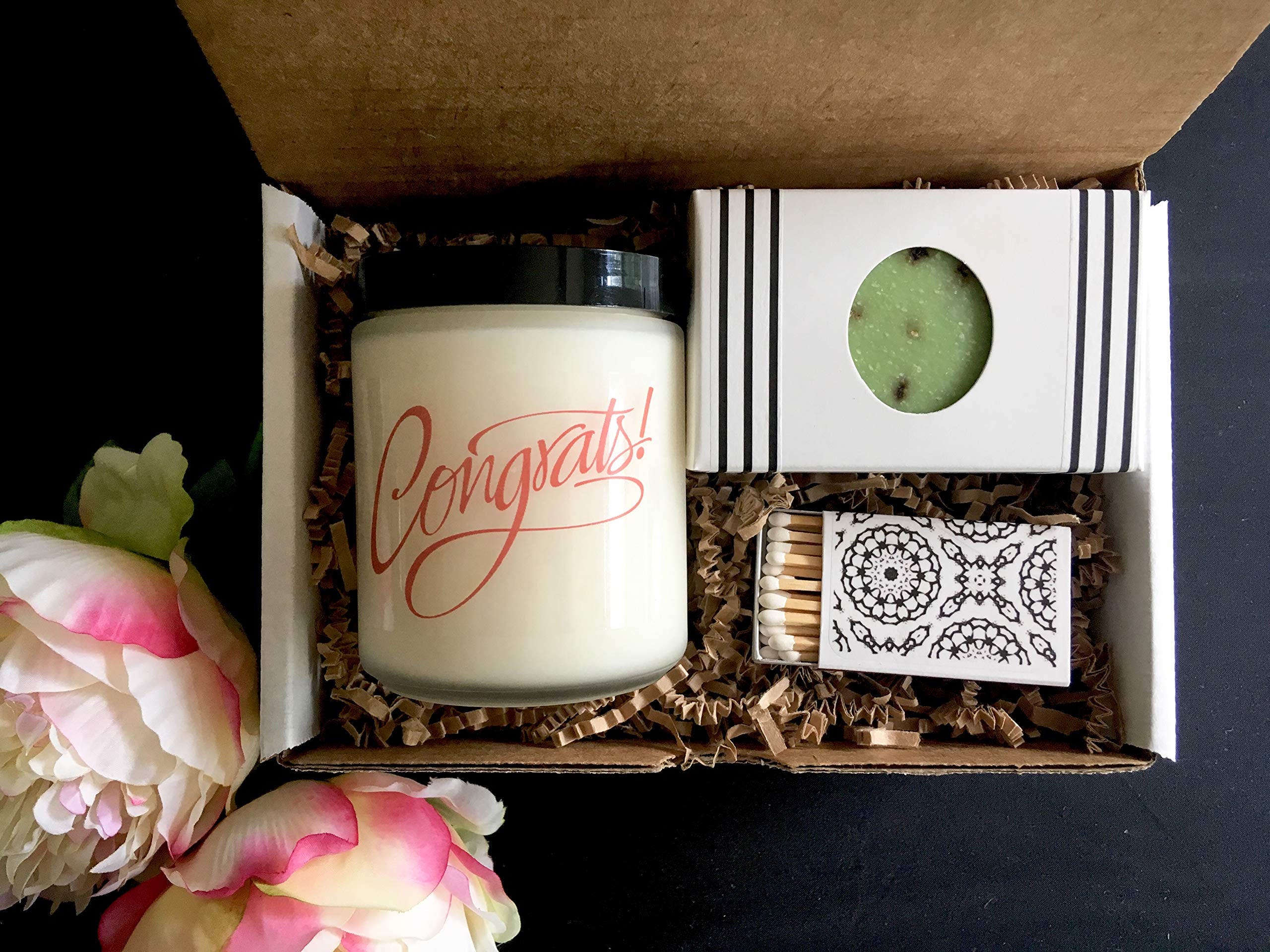 Congratulations Gift - Celebration Gift with Candle and Soap
