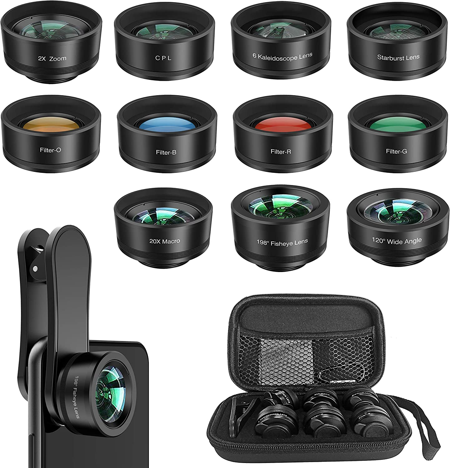 Amazon coupon code for Phone Camera Lens 11 in 1 Cell Phone Lens Kit