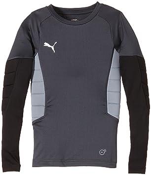 65ad2badde94 Puma Children s Padded Goalkeeper Shirt grey Ebony-Black-Tradewinds  Size 152 (EU