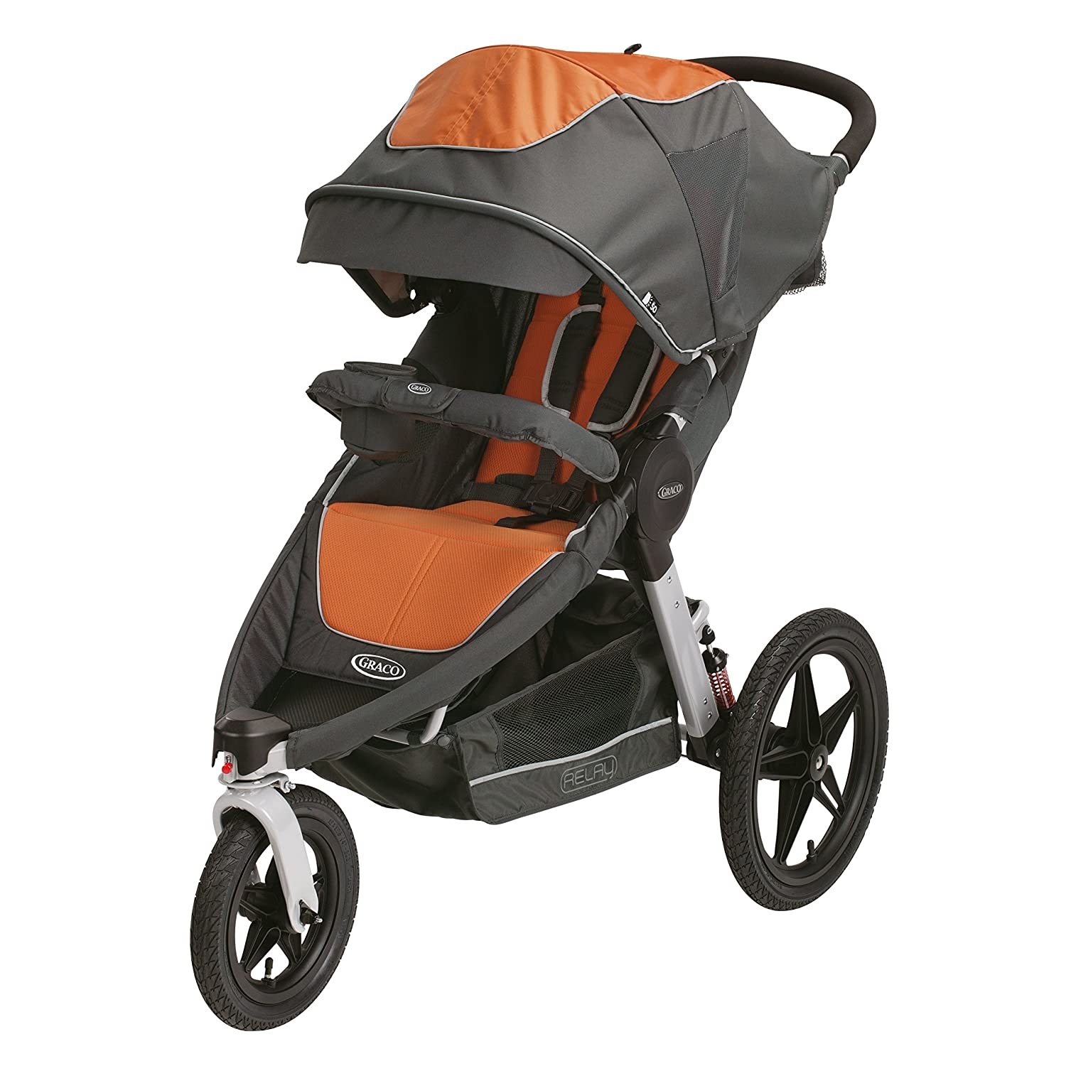 Amazon Graco Relay Connect Jogging Stroller Tangerine Baby