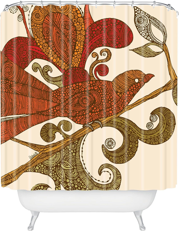 Deny Designs Valentina Directly managed store Ramos The Bird Shower Translated 69 Curtain Orange