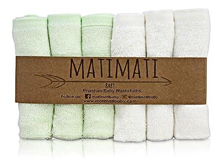 Amazon.com : Matimati Rayon From Bamboo Baby Washcloths (6-pack ...