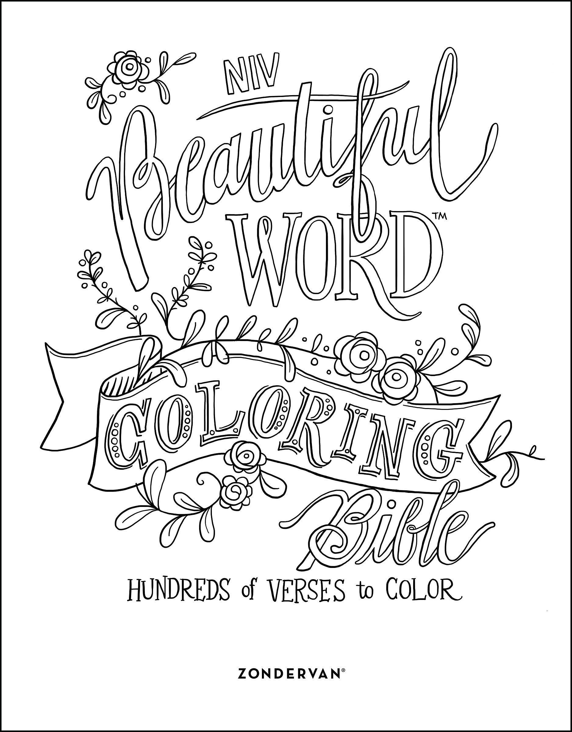 niv beautiful word coloring bible hardcover hundreds of verses