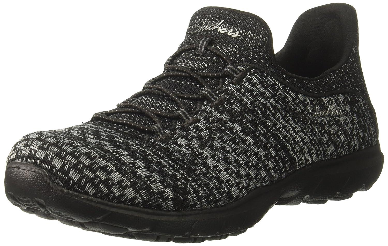 Skechers Women's Dreamstep-Enliven Fashion Sneaker B01N3PP931 9 B(M) US|Black/Charcoal
