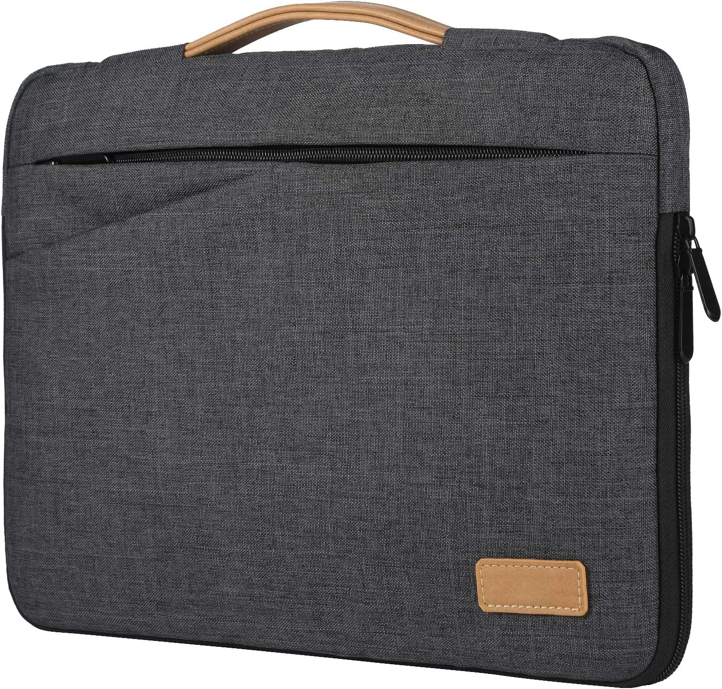 OULUOQI Laptop Sleeve 13 inch,Waterproof and Shockproof Computer Bag with Pocket Compatible with MacBook Air, Notebook Computer 13 inch - Dark Grey