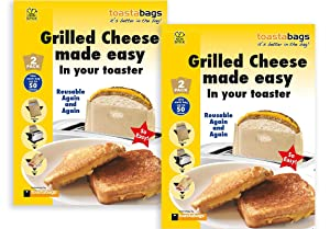Toastabags - Easy Grilled Cheese in a Toaster - 2 Count, 2 Pack - 4 Toastabags Total - Makes 200 Sandwiches