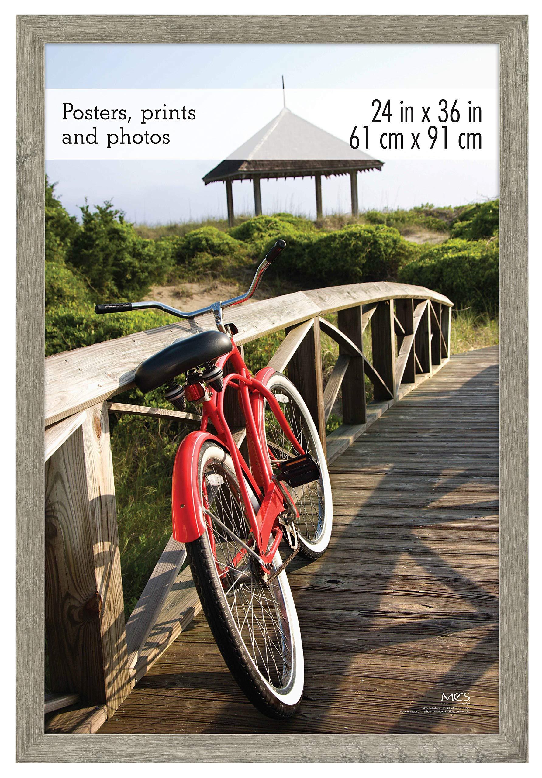 MCS 68867 Museum Poster Frame Barnwood 24x36 Inch, 1 Frame