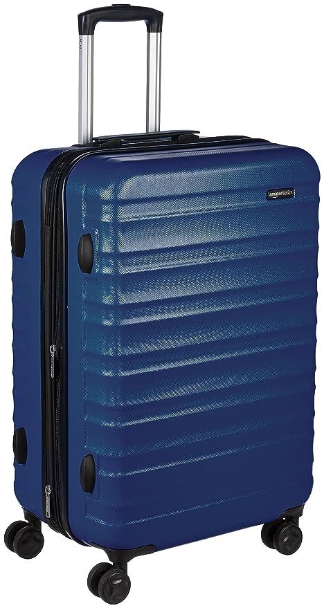 150 opinioni per AmazonBasics- Valigia Trolley rigido con rotelle girevoli, 68 cm, Blu scuro